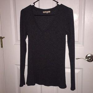 Grey sweater v-neck